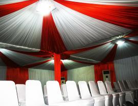 Dekorasi Tenda Kerucut